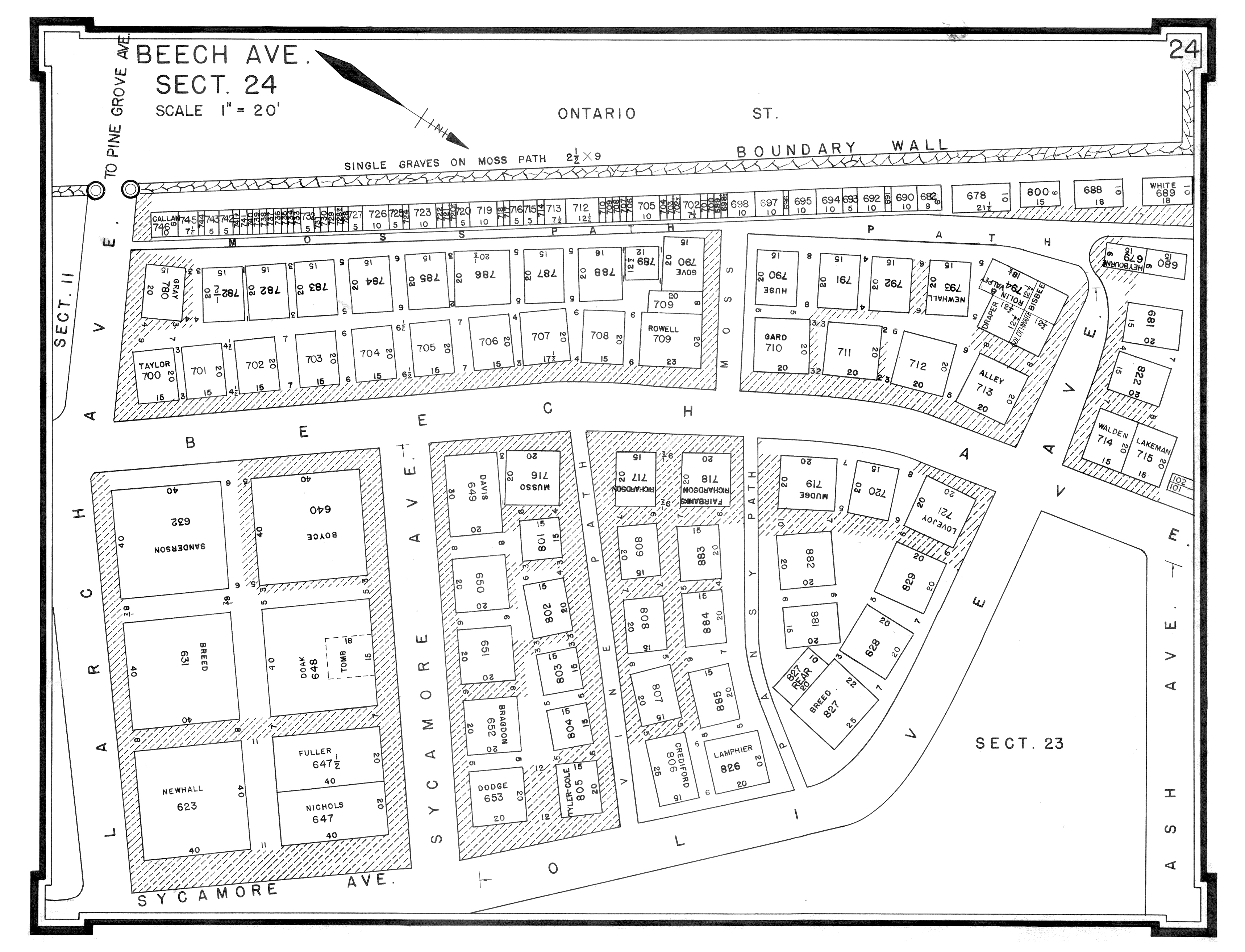 Pine Grove Cemetery - Conservation cemetery map us